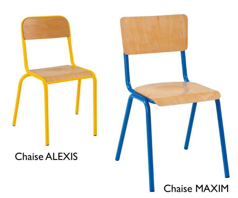 Chaises scolaires